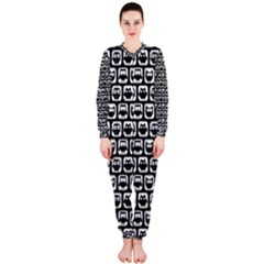 Black And White Owl Pattern Onepiece Jumpsuit (ladies)