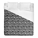 Black And White Owl Pattern Duvet Cover Single Side (Twin Size) View1