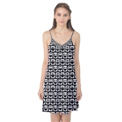 Black And White Owl Pattern Camis Nightgown