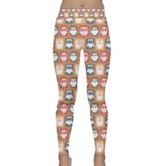 Colorful Whimsical Owl Pattern Yoga Leggings