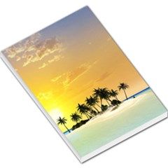 Beautiful Island In The Sunset Large Memo Pads