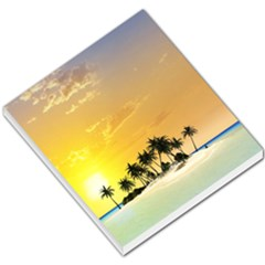 Beautiful Island In The Sunset Small Memo Pads