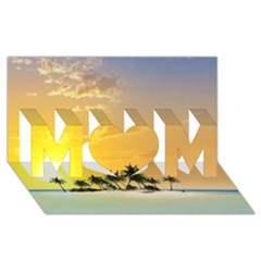 Beautiful Island In The Sunset MOM 3D Greeting Card (8x4)
