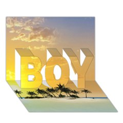 Beautiful Island In The Sunset BOY 3D Greeting Card (7x5)
