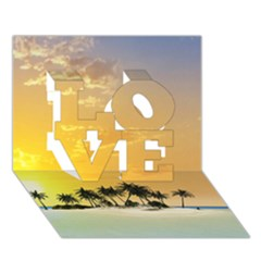 Beautiful Island In The Sunset Love 3d Greeting Card (7x5)