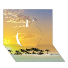 Beautiful Island In The Sunset Apple 3d Greeting Card (7x5)