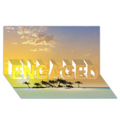 Beautiful Island In The Sunset ENGAGED 3D Greeting Card (8x4)