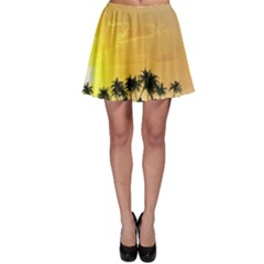 Beautiful Island In The Sunset Skater Skirts