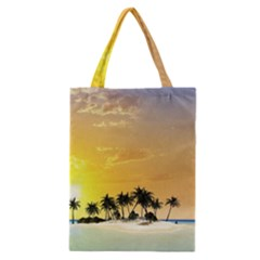 Beautiful Island In The Sunset Classic Tote Bags