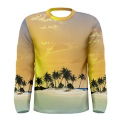Beautiful Island In The Sunset Men s Long Sleeve T-shirts