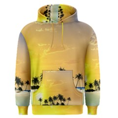 Beautiful Island In The Sunset Men s Pullover Hoodies