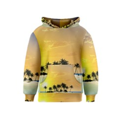 Beautiful Island In The Sunset Kid s Pullover Hoodies