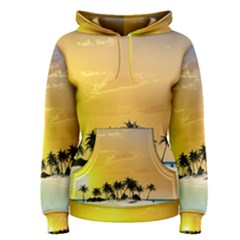 Beautiful Island In The Sunset Women s Pullover Hoodies