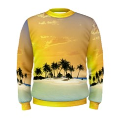 Beautiful Island In The Sunset Men s Sweatshirts