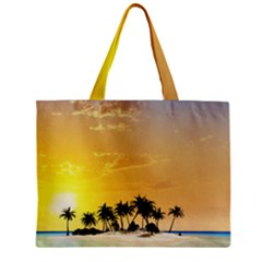 Beautiful Island In The Sunset Zipper Tiny Tote Bags