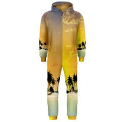 Beautiful Island In The Sunset Hooded Jumpsuit (Men)