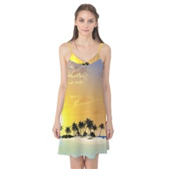 Beautiful Island In The Sunset Camis Nightgown