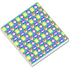 Colorful Whimsical Owl Pattern Small Memo Pads