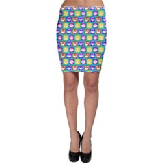Colorful Whimsical Owl Pattern Bodycon Skirts