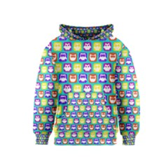 Colorful Whimsical Owl Pattern Kid s Pullover Hoodies