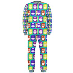 Colorful Whimsical Owl Pattern OnePiece Jumpsuit (Men)