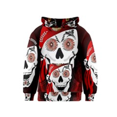 Funny Happy Skull Kid s Pullover Hoodies