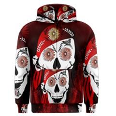 Funny Happy Skull Men s Zipper Hoodies