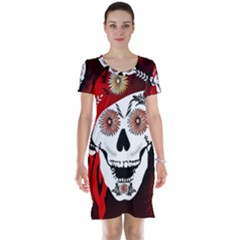 Funny Happy Skull Short Sleeve Nightdresses