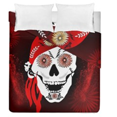 Funny Happy Skull Duvet Cover (full/queen Size)
