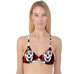 Funny Happy Skull Reversible Tri Bikini Tops