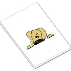 Peeping Fawn Great Dane With Undocked Ears Large Memo Pads