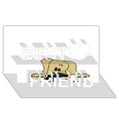 Peeping Fawn Great Dane With Undocked Ears Best Friends 3D Greeting Card (8x4)