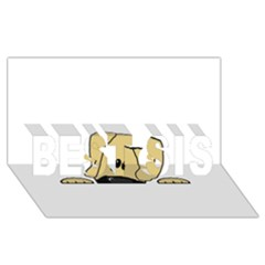 Peeping Fawn Great Dane With Undocked Ears BEST SIS 3D Greeting Card (8x4)