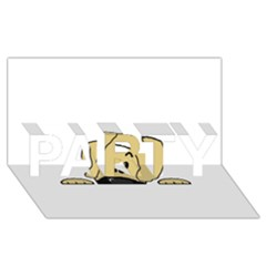 Peeping Fawn Great Dane With Undocked Ears PARTY 3D Greeting Card (8x4)