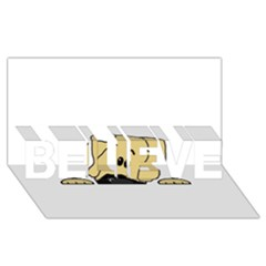 Peeping Fawn Great Dane With Undocked Ears BELIEVE 3D Greeting Card (8x4)