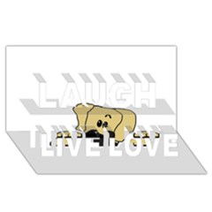 Peeping Fawn Great Dane With Undocked Ears Laugh Live Love 3D Greeting Card (8x4)