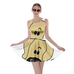 Peeping Fawn Great Dane With Undocked Ears Skater Dresses