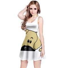 Peeping Fawn Great Dane With Undocked Ears Reversible Sleeveless Dresses