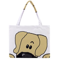 Peeping Fawn Great Dane With Undocked Ears Tiny Tote Bags