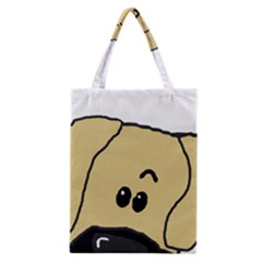 Peeping Fawn Great Dane With Undocked Ears Classic Tote Bags