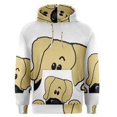 Peeping Fawn Great Dane With Undocked Ears Men s Pullover Hoodies