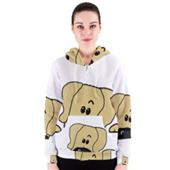 Peeping Fawn Great Dane With Undocked Ears Women s Zipper Hoodies