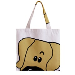 Peeping Fawn Great Dane With Undocked Ears Zipper Grocery Tote Bags