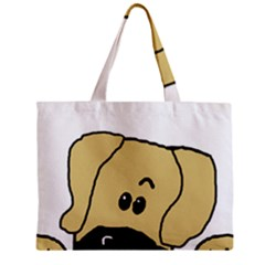 Peeping Fawn Great Dane With Undocked Ears Zipper Tiny Tote Bags