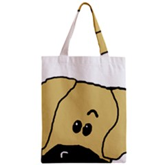 Peeping Fawn Great Dane With Undocked Ears Zipper Classic Tote Bags