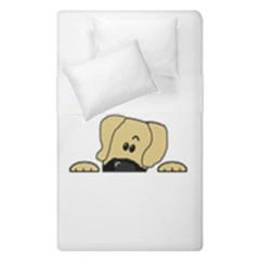 Peeping Fawn Great Dane With Undocked Ears Duvet Cover (Single Size)