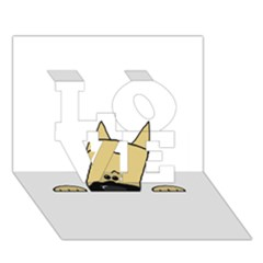 Peeping Fawn Great Dane With Docked Ears Love 3d Greeting Card (7x5)