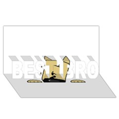 Peeping Fawn Great Dane With Docked Ears BEST BRO 3D Greeting Card (8x4)