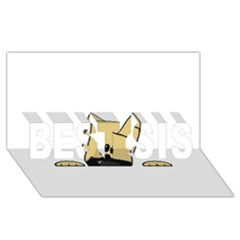 Peeping Fawn Great Dane With Docked Ears BEST SIS 3D Greeting Card (8x4)