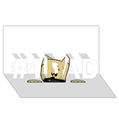 Peeping Fawn Great Dane With Docked Ears #1 Dad 3d Greeting Card (8x4)